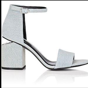 Alexander Wang Abby Denim Sandal Size 6.5